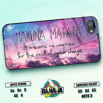 Hakuna Matata, Lion King, Disney, iPhone 5 case, iPhone 5S case, iPhone 5c case, Phone case, iPhone 4 Case, iPhone 4S Case, Phone Skin, LK02