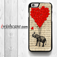 Elephant And Heart for iPhone 4 4S 5 5S 5C 6 6 Plus , iPod Touch 4 5  , Samsung Galaxy S3 S4 S5 S6 S6 Edge Note 3 Note 4 , and HTC One X M7 M8 Case