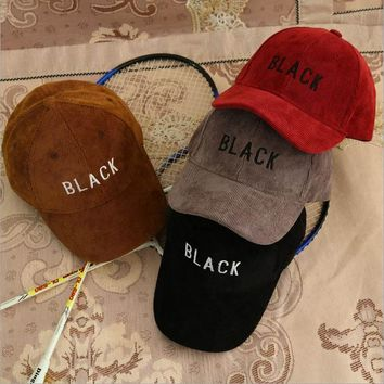 Black Children Hip Hop Baseball Cap Corduroy Hat Boys Girls snapback Caps for 2-9 years