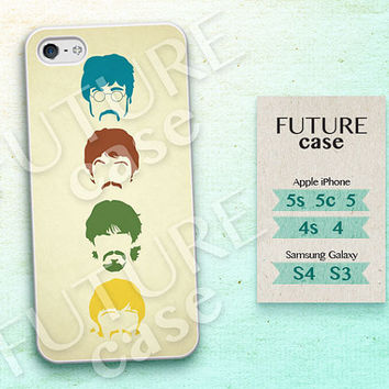 Beatles Head iPhone 5 Case,iPhone 5s Case,iPhone 5c Case, The Beatles Face Case or Rubber Case cover skin for iphone 5/5s/5c case