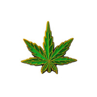 Pot Leaf Lapel Pin