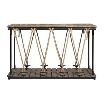 Rustic Rope Console Table