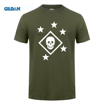 GILDAN DIY style mens t shirts Adult Tees Shirt Marine Raider T Shirts Men's Clothes Printing Short Sleeve 100% Cotton T Shirt