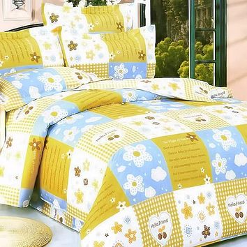 Yellow Countryside 100% Cotton Comforter Set