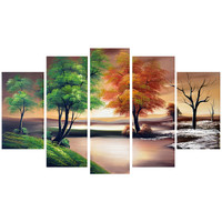 Seasons Forest Mastery Landscape Canvas Wall Art Oil Painting