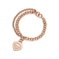 Tiffany & Co. - Return to Tiffany®:Double Chain Heart Tag<br>Bracelet