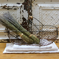 Vintage French Lovely Wire Market Basket