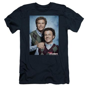 Step Brothers Slim Fit T-Shirt Portrait Navy Tee
