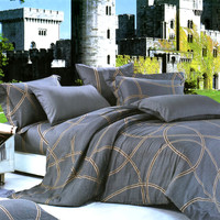 Reminiscent Mood Luxury 4PC Comforter Set Combo 300GSM in Twin Size