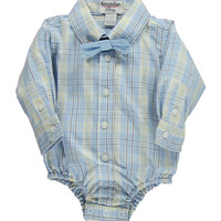 Hartstrings Baby Boys Cotton Plaid Bodysuit & Bow Tie Set