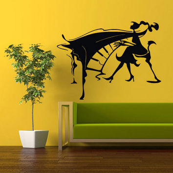 rvz354 Wall Vinyl Sticker Bedroom Decal Girl with Piano