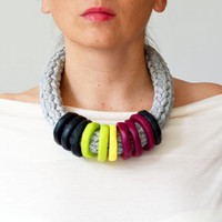 Trendy Multicolored Statement Necklace