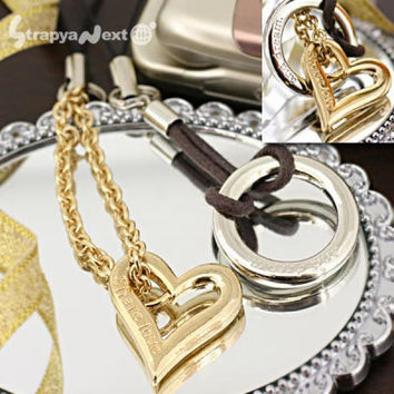 [FARE] Just you and Me Pair Cell Phone Strap ring and heart
