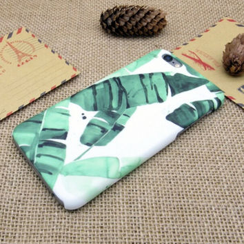 Banana Leaf Case Cover for iPhone 7 7 Plus - iPhone 5s se - iPhone 6 6s Plus + Gift Box
