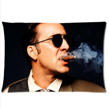 Nicolas Cage Custom Zippered Pillow Cases Two sides