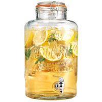 Glass Beverage Dispenser Lemonade Juice Jug