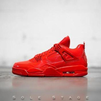 ONETOW Beauty Ticks Nike Air Jordan 4 11lab4 University Red/white Basketball Shoes 719864 600