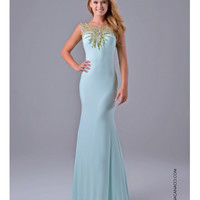 Nina Canacci 7120 Mint Green Floor Length Gown 2015 Prom Dresses