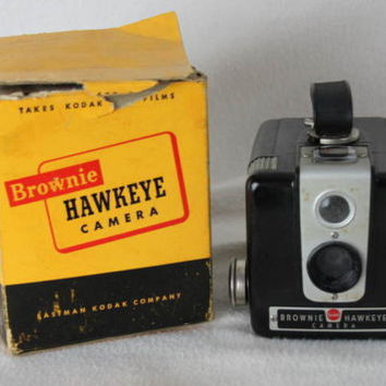 Kodak Brownie Hawkeye Camera in original box One owner