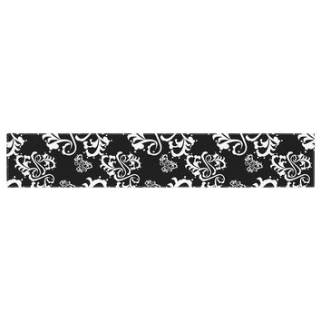 "Mydeas ""Sweetheart Damask Black & White"" Pattern Table Runner"