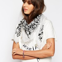 Maison Scotch Flower Print Scarf