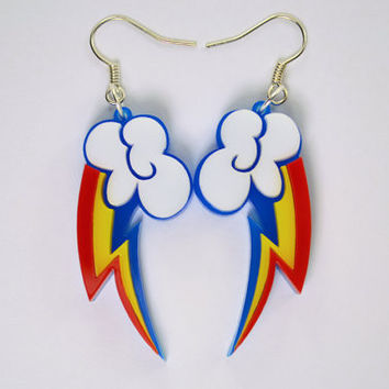 My Little Pony Rainbow Dash Cutie Mark Earrings - Laser Cut Acrylic