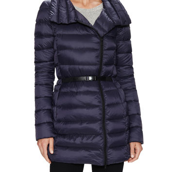 Soia & Kyo Women's Vivian Quilted Belted Coat - Dark Blue/Navy -