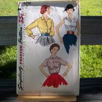 Vintage 1950s Simplicity Sewing Pattern 4256 COMPLETE