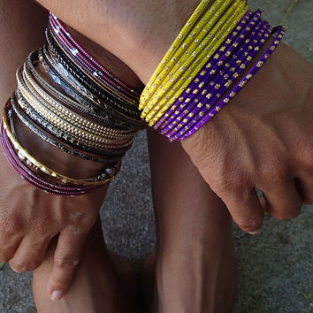 Mix and match bangles - Colored Glass
