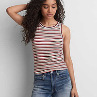 AEO Soft & Sexy Ribbed Tomgirl Tank, Red