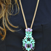 Focus Point Necklace: Mint | Hope's