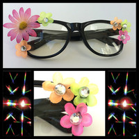 rave EDC lightshow glasses - NEON summer daze glasses