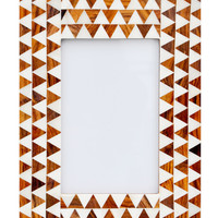 Ivory Triangles Picture Frame