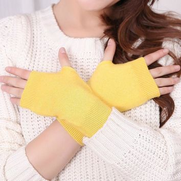 Packaging Sale 5Pairs / Pack Genuine Women's Wool Mitts Gloves fingerless gloves winter and autumn Knitted for women mitten