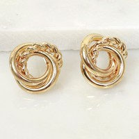 Knot Together Earring Gold