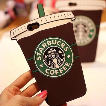 Day-First™ Starbucks Fashion Coffee iPhone Phone Cover Case For iphone 6 6s 6plus 6s-plus 7 7plus
