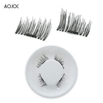 4 Pcs/2Pairs 3D Magnetic False Fake Eyelashes ORIGINAL LASH Eye Makeup Accessories Beauty Magnet Eye Lashes Extension Dropship