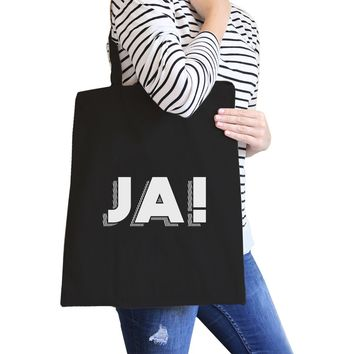 Ja! Black Canvas Bag Cute Gift Ideas For BFF Tote Bags for Girls