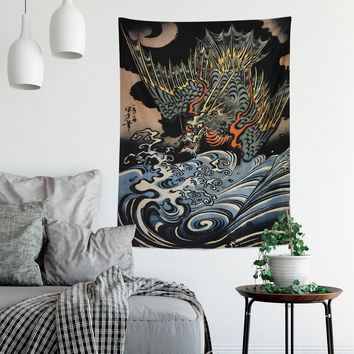 Japanese Dragon Art  - Japanese Dragon Tapestry