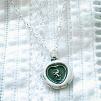 Champion of My Heart Wax Seal Necklace