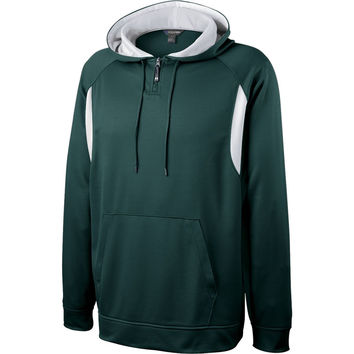 Holloway 229078 Affliction Hoodie - Dark Green White