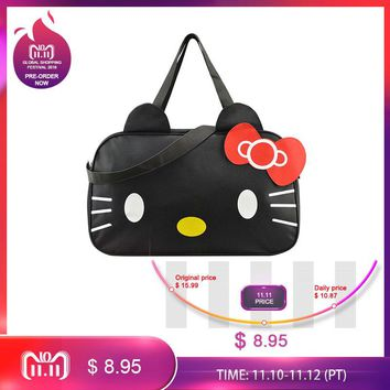 Mihawk Cute Hello Kitty Handbag Girl's Women's Travel Messenger Bags Dual-use Organizer Shoulder Accessories Supplies Products