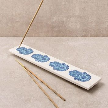 Hamsa Stone Incense Holder