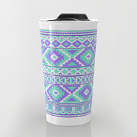 Tribal Art Creation Purple and Mint Travel Mug by Tjc555 | Society6