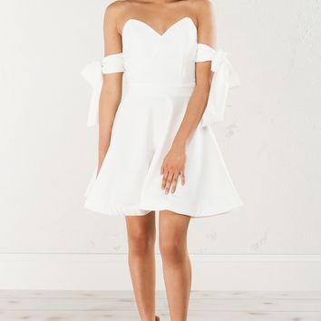 CARRIED AWAY OFF THE SHOULDER SKATER DRESS - What's New