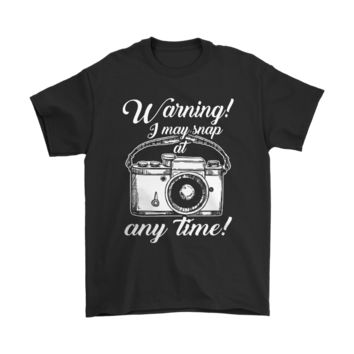 QIYIF Warning I May Snap At Any Time Photographer Shirts