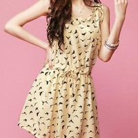 Printed Sleeveless Mini Dress