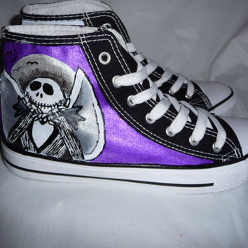 The Nightmare before christmas high tops. handpainted made to order