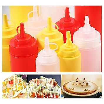 8-24 OZ Bottle Squeeze Dispenser Ketchup Condiment Mustard Sauce Vinegar 230-680ml Gravy Boats Kitchen Tools & Gadgets