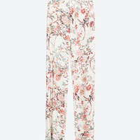 PRINTED STRAIGHT-CUT TROUSERS